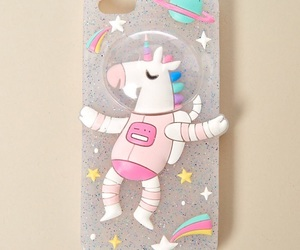 space, unicorn, and phone case image