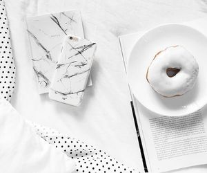 donuts, white, and food image