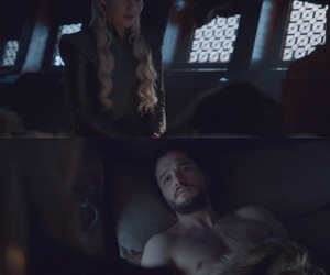 couple, game of thrones, and jon snow image