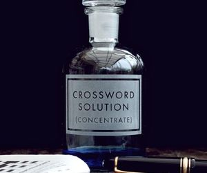 bottle, aesthetic, and crossword image