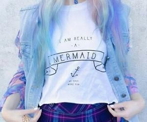 hair, mermaid, and pastel image