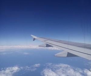 airplane, sea, and beauty image