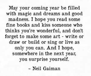 new year, quotes, and wish image