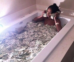 money and bath image