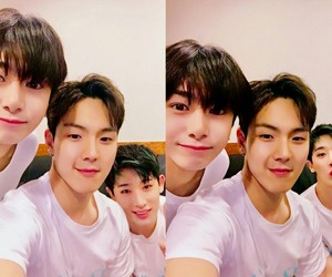kpop, wonho, and hyungwon image