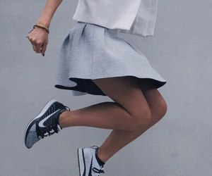 nike, style, and skirt image