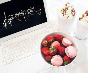 gossip girl, strawberry, and food image