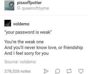 harry potter, password, and lord voldemort image