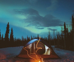 camping, @thebucktlist, and fire image