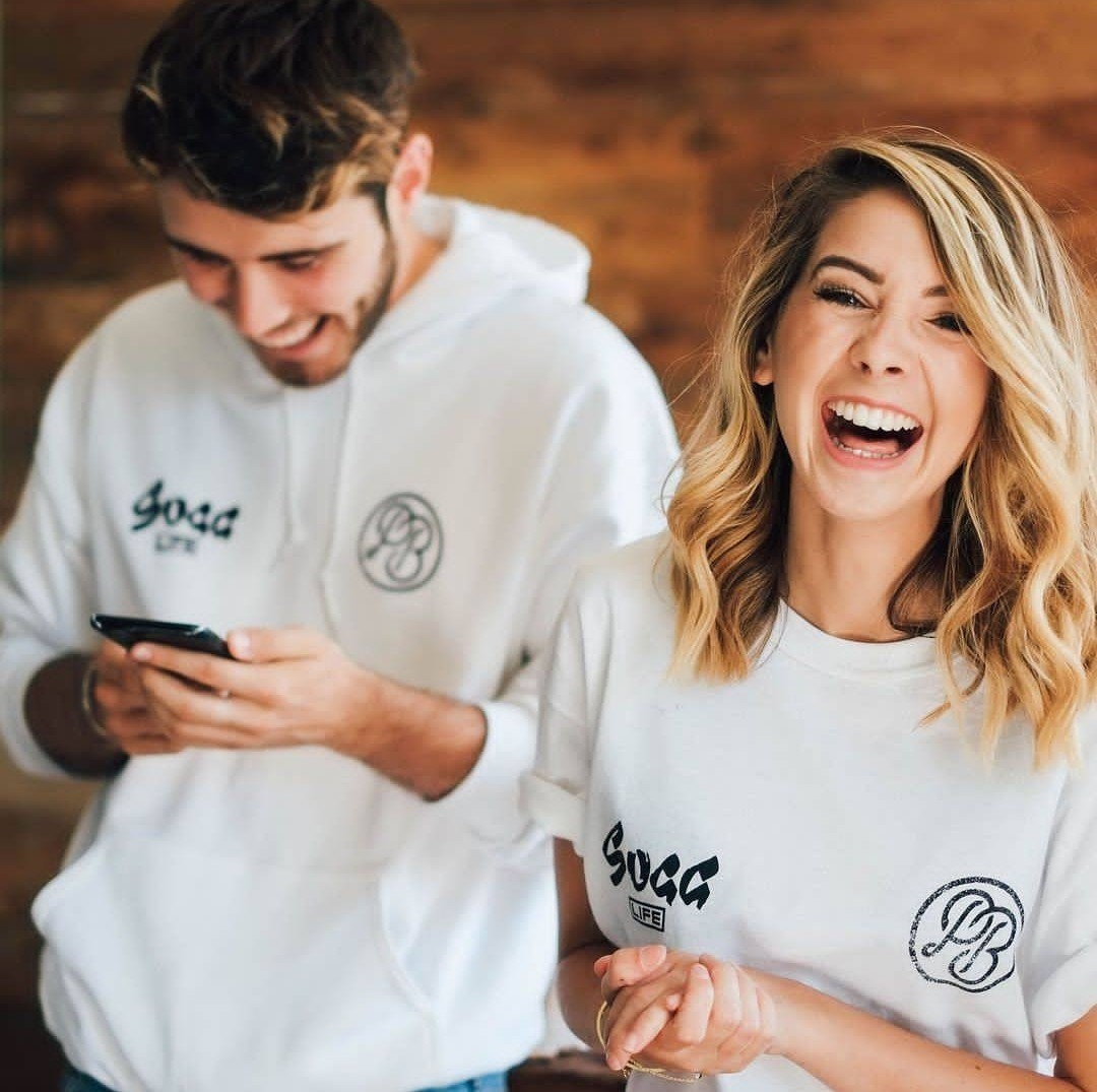 couple, laugh, and smile image