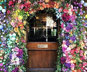 flowers, beautiful, and door image