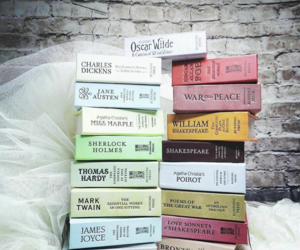 agatha christie, books, and charles dickens image