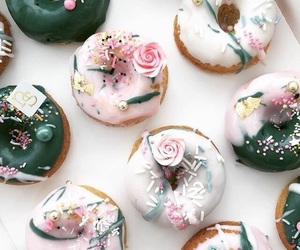 food, aesthetic, and doughnuts image