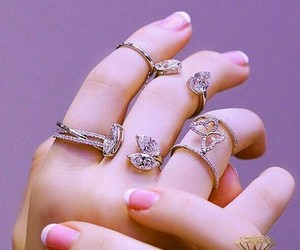 hand, rings, and jewellery image