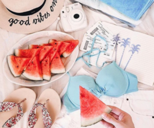 summer and flatlay image