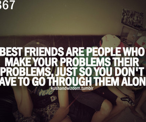 best friends, problems, and friends image