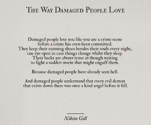 damaged, heart, and nikita gill image