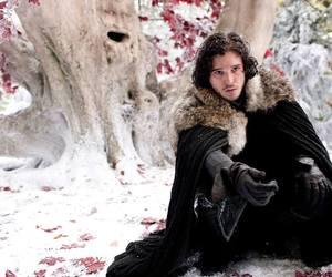 game of thrones, jon snow, and kit harington image