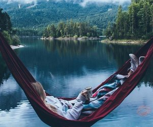 relax, lake, and nature image