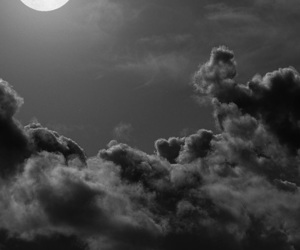 black and white, moon, and wallpapers image