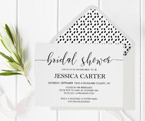 etsy, shower invitation, and bridal printable image