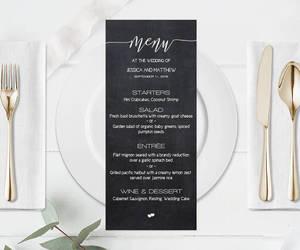 etsy, chalkboard menu, and printable menu card image