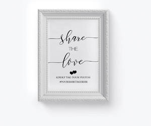 etsy, social media sign, and wedding hashtag sign image
