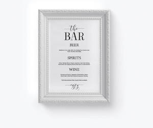 etsy, wedding bar sign, and signature cocktails image