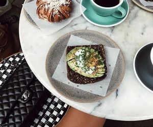 avocado, marble, and breakfast image