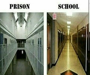 prison, school, and funny image