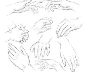 art, white, and hands image