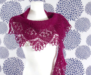 etsy, fashion, and knit shawl image