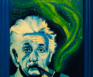 Albert Einstein, scientist, and art image