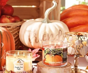 apples, autumn, and candleholder image