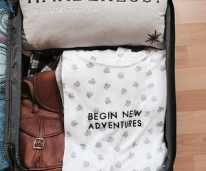 adventure, bag, and fashion image