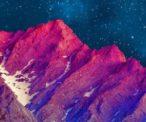 mountains, pink, and wallpaper image