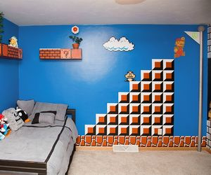 bed, mario bros, and video games image
