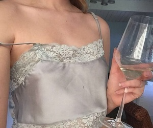 drink, silver, and girl image