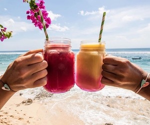 beach, drink, and juice image
