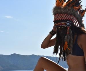 boho, vacation, and feathers image