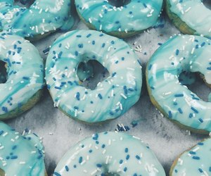 blue, белый, and donuts image