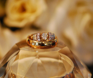 ring, gold, and luxury image