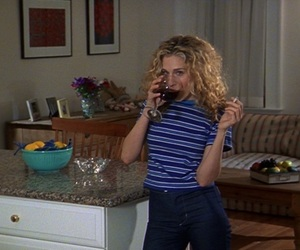 sex and the city, wine, and Carrie Bradshaw image
