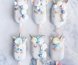 unicorn, food, and ice cream image