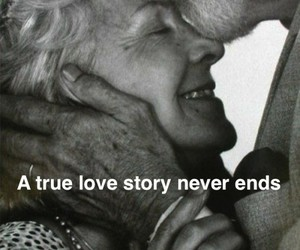 ends, never, and old couple image