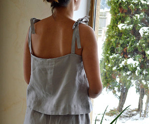 etsy, linen night gown, and linen shorts image