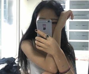 korean, mirror selfie, and korean girl image