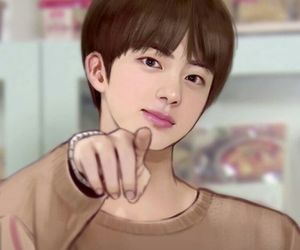 bts, jin, and fanart image