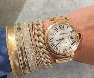 cartier, cash, and diamonds image