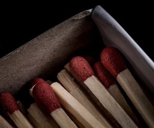 fire, match, and red image